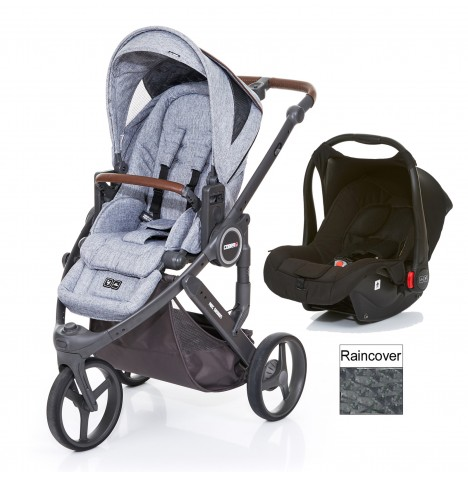 ABC Design Cobra Plus Travel System - Graphite Grey / Black