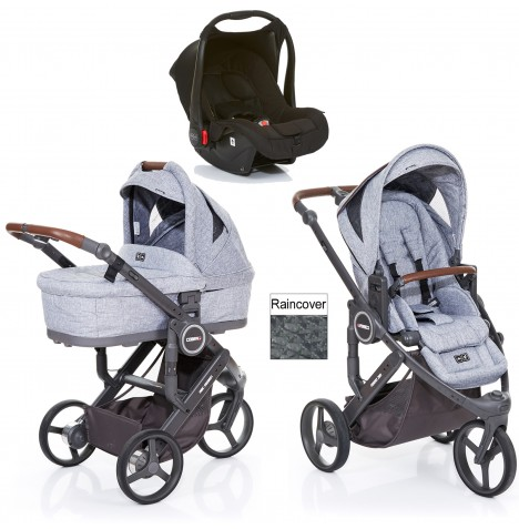 ABC Design Cobra Plus Travel System + Carrycot - Graphite Grey / Black