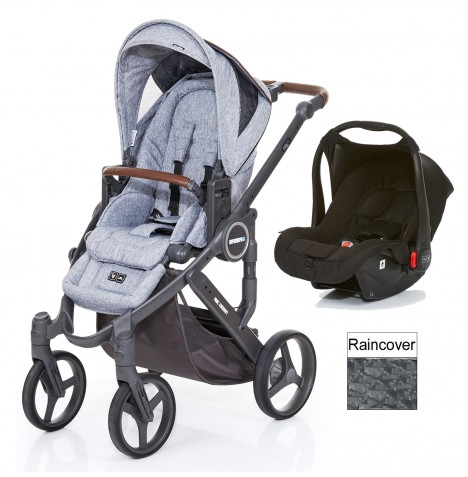 ABC Design Mamba Plus Travel System - Graphite Grey / Black