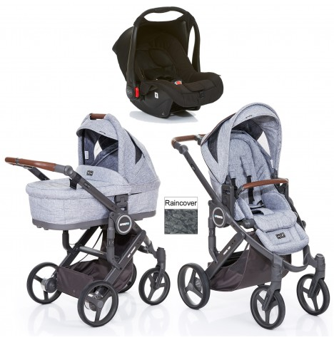 ABC Design Mamba Plus Travel System & Carrycot - Graphite Grey / Black