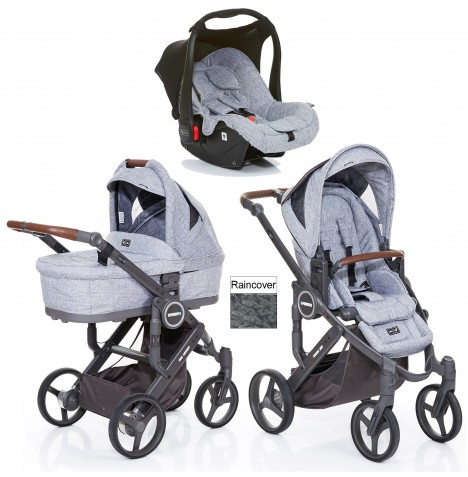ABC Design Mamba Plus Travel System & Carrycot - Graphite Grey
