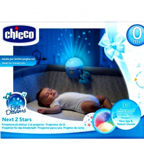 Chicco Next2 Stars Nightlight Projector - Light Blue