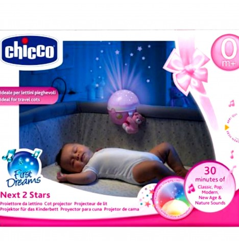Chicco Next2 Stars Nightlight Projector - Pink