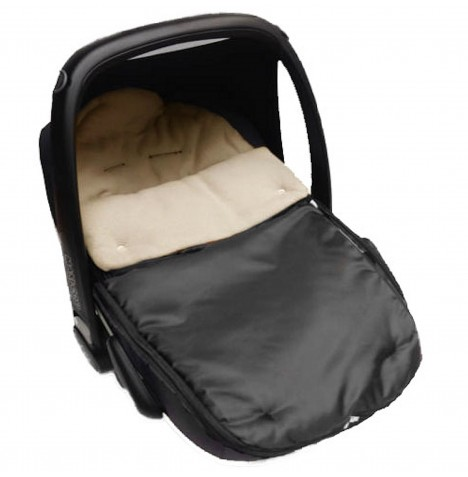 4Baby Shower Proof Fleece Car Seat Footmuff - Beige..