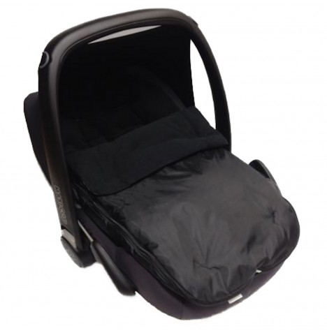 4Baby Shower Proof Fleece Car Seat Footmuff - Black..