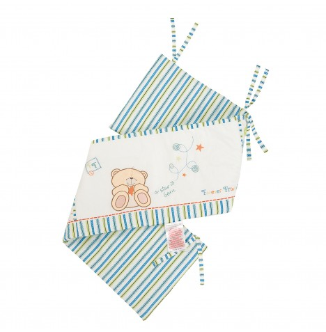 Izziwotnot Forever Friends Cot / Cot Bed Bumper - Little Star Blue