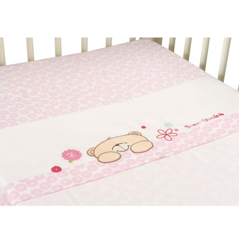 Izziwotnot Forever Friends Cot Bed / Junior Bed Sheets Set - Beautiful Pink