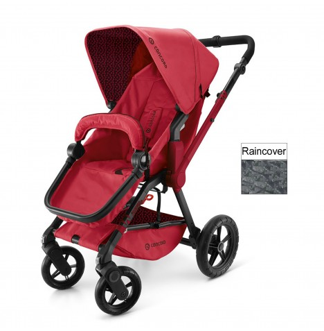 Concord Wanderer Buggy Stroller Pushchair - Ruby Red