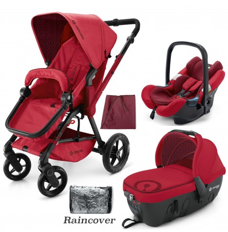 Concord Wanderer Travel Set Travel System - Ruby Red