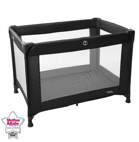 Red Kite Sleeptight Travel Cot - Jet Black