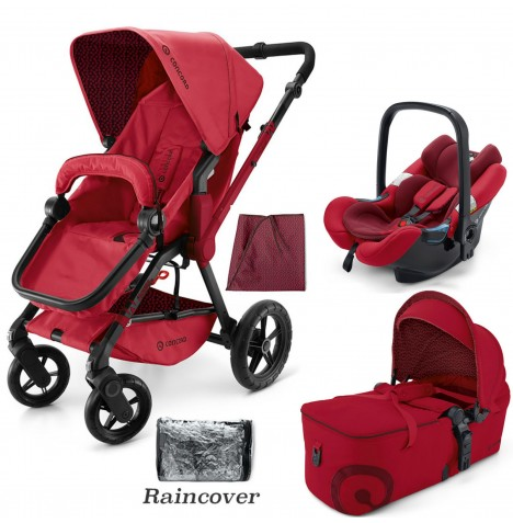 Concord Wanderer Mobility Set Travel System - Ruby Red