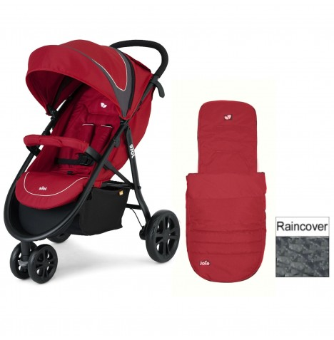 Joie Litetrax 3 Wheel Stroller - Apple