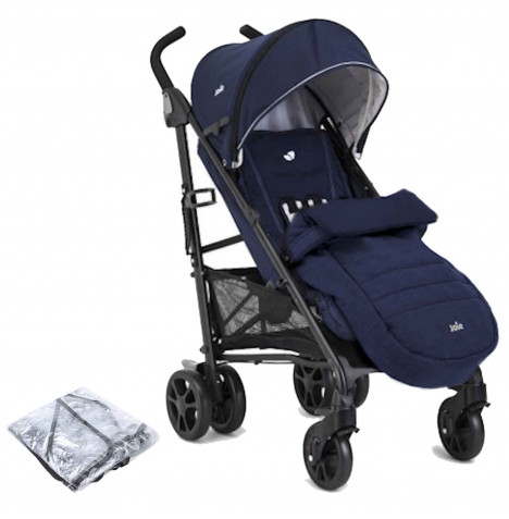 Joie Brisk LX Stroller / Pushchair With Footmuff - Midnight Navy