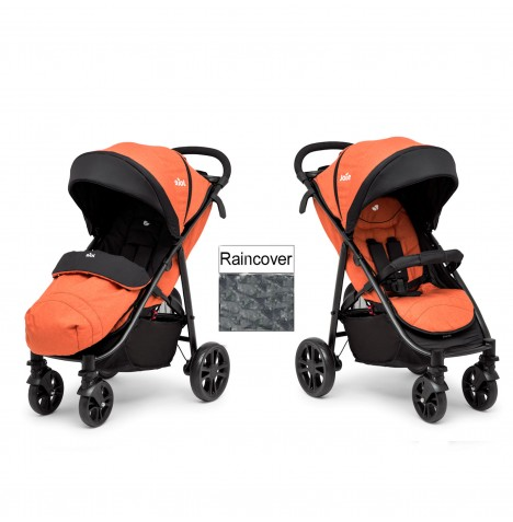 Joie Litetrax 4 Wheel Stroller (With Footmuff) - Rust