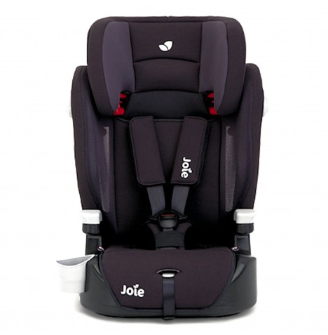 Joie Elevate Group 123 Deluxe Padded High Back Booster Car Seat - Two Tone Black