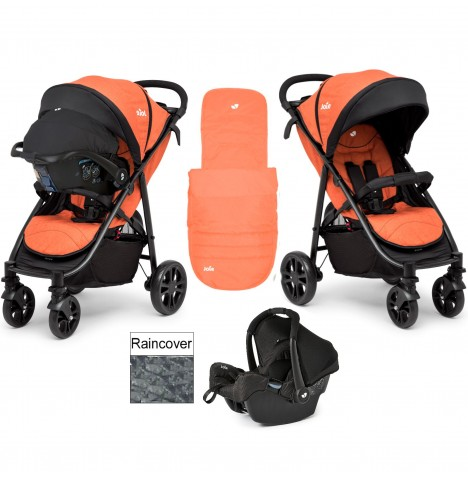 joie rust litetrax 4 wheel travel system pushchair with footmuff raincover ebay. Black Bedroom Furniture Sets. Home Design Ideas