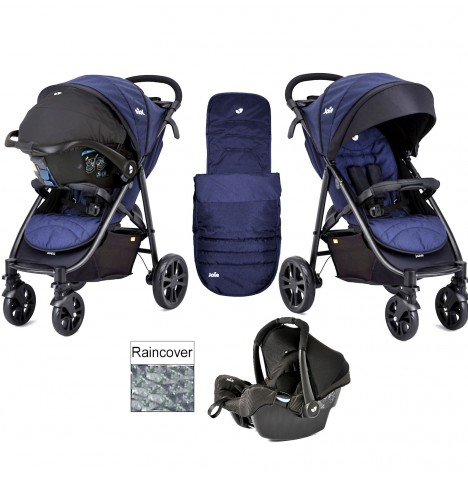 Joie Litetrax 4 Wheel Travel System - Eclipse