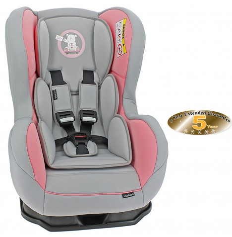Obaby Group 0/1 Combination Car Seat - B Is For Bear Pink