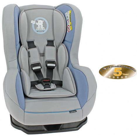 Obaby Group 0/1 Combination Car Seat - B Is For Bear Blue