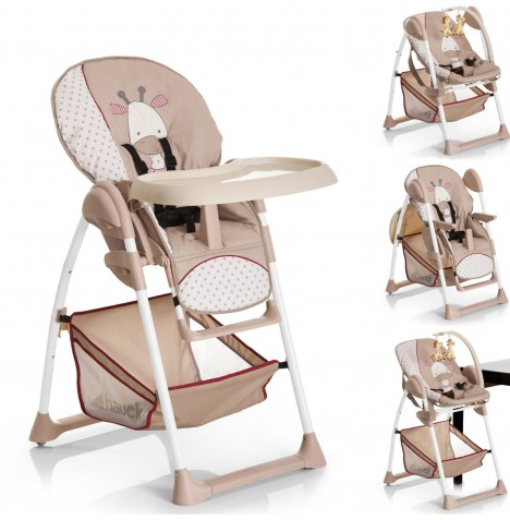 Hauck Sit n Relax 2 in 1 Highchair / Bouncer - Giraffe