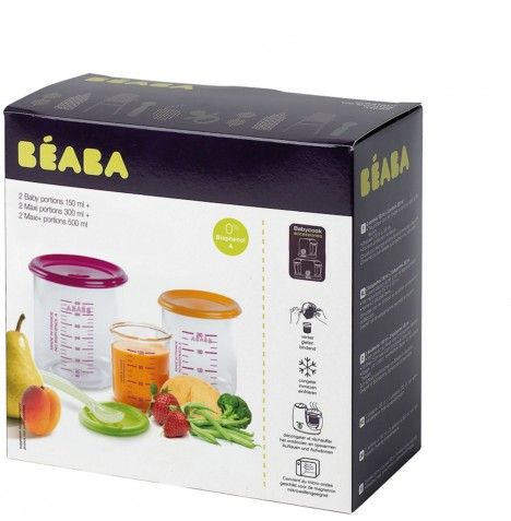 Beaba Food Portion Containers - 6 Pack