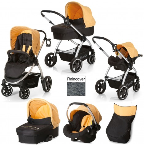 Hauck Priya Trio Set Travel System - Caviar / Banana