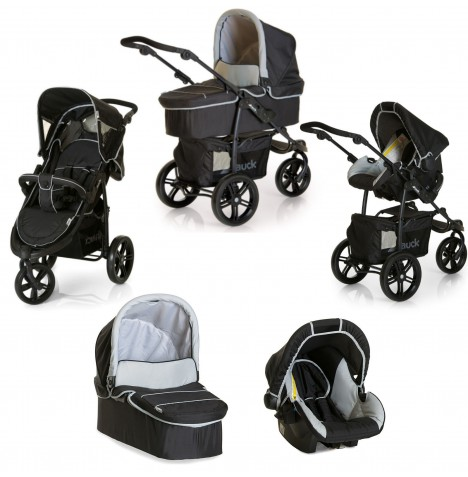 Hauck Viper SLX Trio Set Travel System - Caviar / Grey