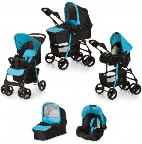 Hauck Shopper SLX Trio Set Travel System - Caviar / Aqua