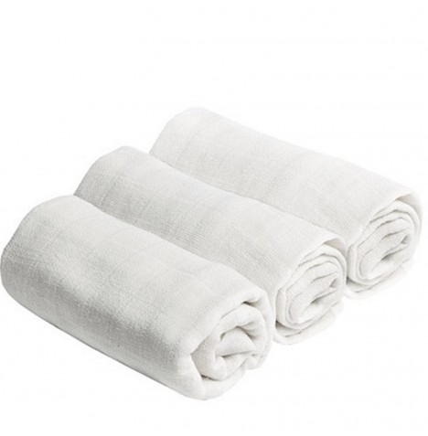 Bee Bo Cotton Muslin Squares (3 Pack) - White
