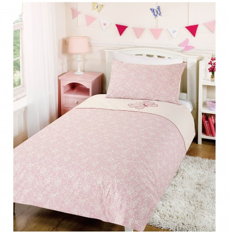 My Little World Single Bed Duvet & Pillowcase Set - Butterfly