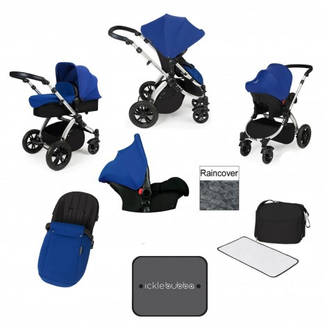 Ickle bubba Stomp V3 Silver All In One Travel System - Blue