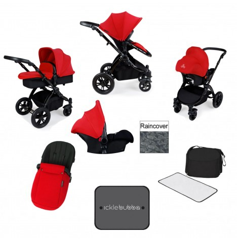 Ickle bubba Stomp V3 Black All In One Travel System - Red