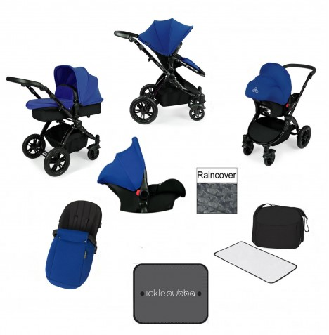 Ickle bubba Stomp V3 Black All In One Travel System - Blue