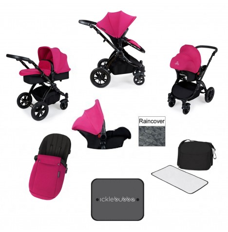 Ickle bubba Stomp V3 Black All In One Travel System - Pink