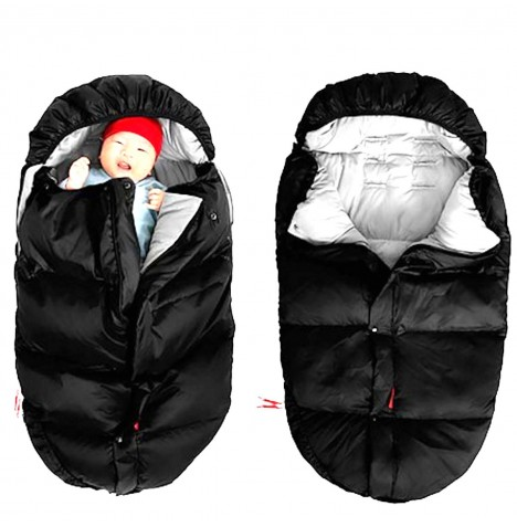Phil & Teds Duck Down & Feather Fill Sleeping Bag / Footmuff - Black