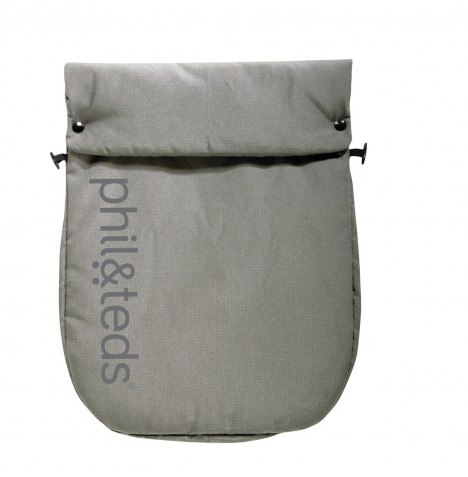 Phil & Teds Smart Lux / Promenade / Voyager Footmuff / Cosytoes - Light Grey