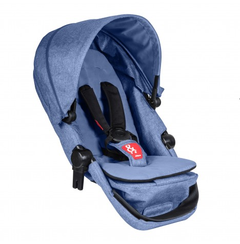 Phil & Teds Voyager Double Kit / Second Seat - Blue Marl