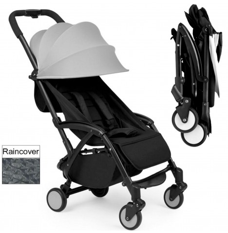 Ickle Bubba Aurora Travel Pushchair / Stroller - Grey