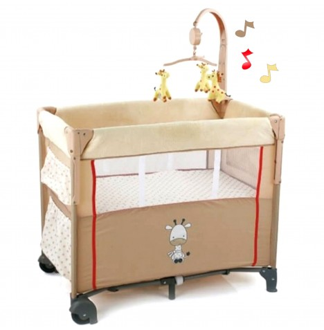 Hauck Dream n Care Center Bassinette Travel Cot - Giraffe