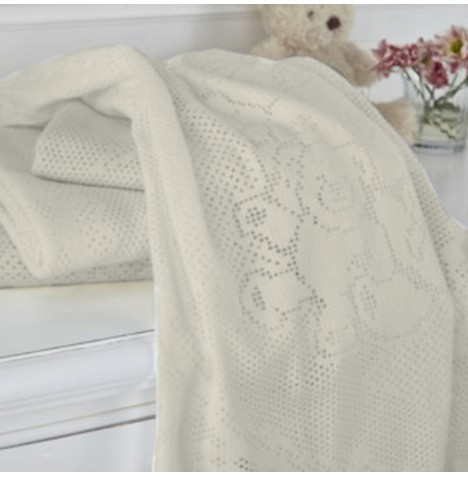 Clair De Lune Extra Soft Brushed Cotton Cot /Cot Bed Blanket - Teddy & Friends Cream