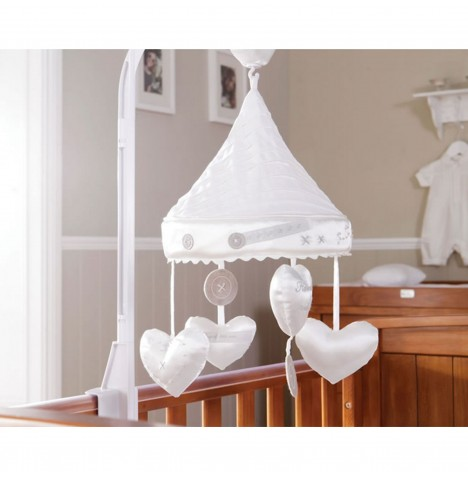Silver Cross Handmade With Love Luxury Musical Cot Mobile - White