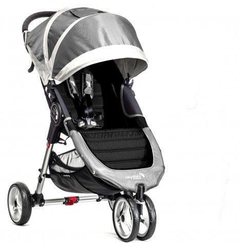 New Baby Jogger City Mini Single Stroller - Steel Grey
