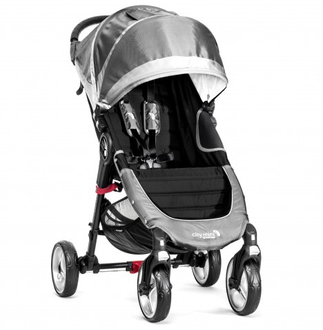 New  Baby Jogger City Mini 4 Wheel Single Stroller - Steel Grey
