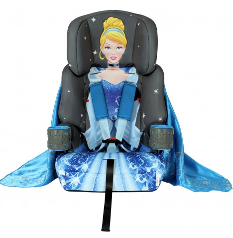 Kids Embrace Group 1,2,3 Booster Car Seat - Platinum Cinderella