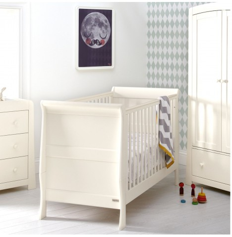 Mamas And Papas Mia Cot / Toddler Bed - Ivory White
