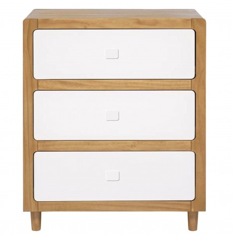 East Coast Monaco Dresser / Changing Unit - White / Natural