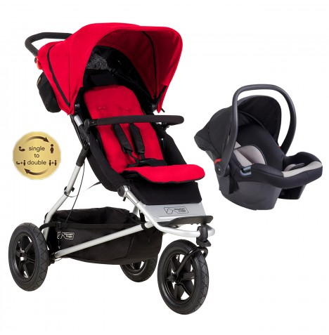 Mountain Buggy +One Travel System - Berry