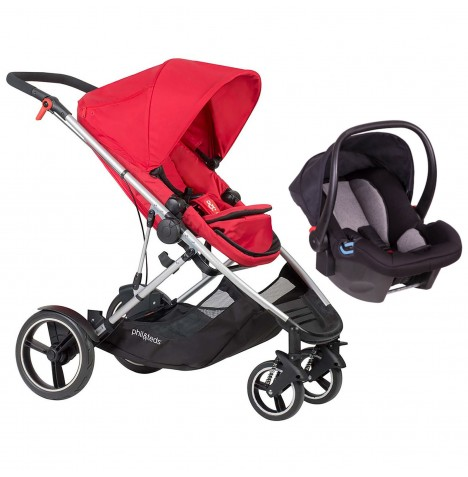 Phil & Teds Voyager Travel System - Red