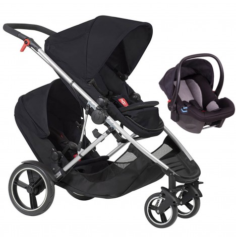 Phil & Teds Voyager Tandem Travel System - Black
