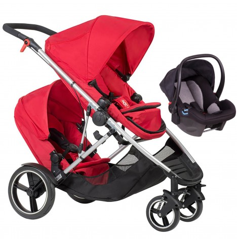 Phil & Teds Voyager Tandem Travel System - Red